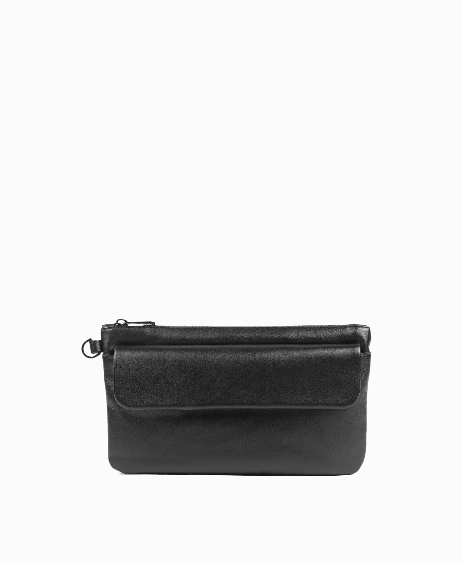 71710df07430 Черный компактный и вместительный мужской клатч 100% натуральная кожа, пол:  Мужской, цвет: Черный, размер: 250*150. Купить в интернет-магазине ASKENT.